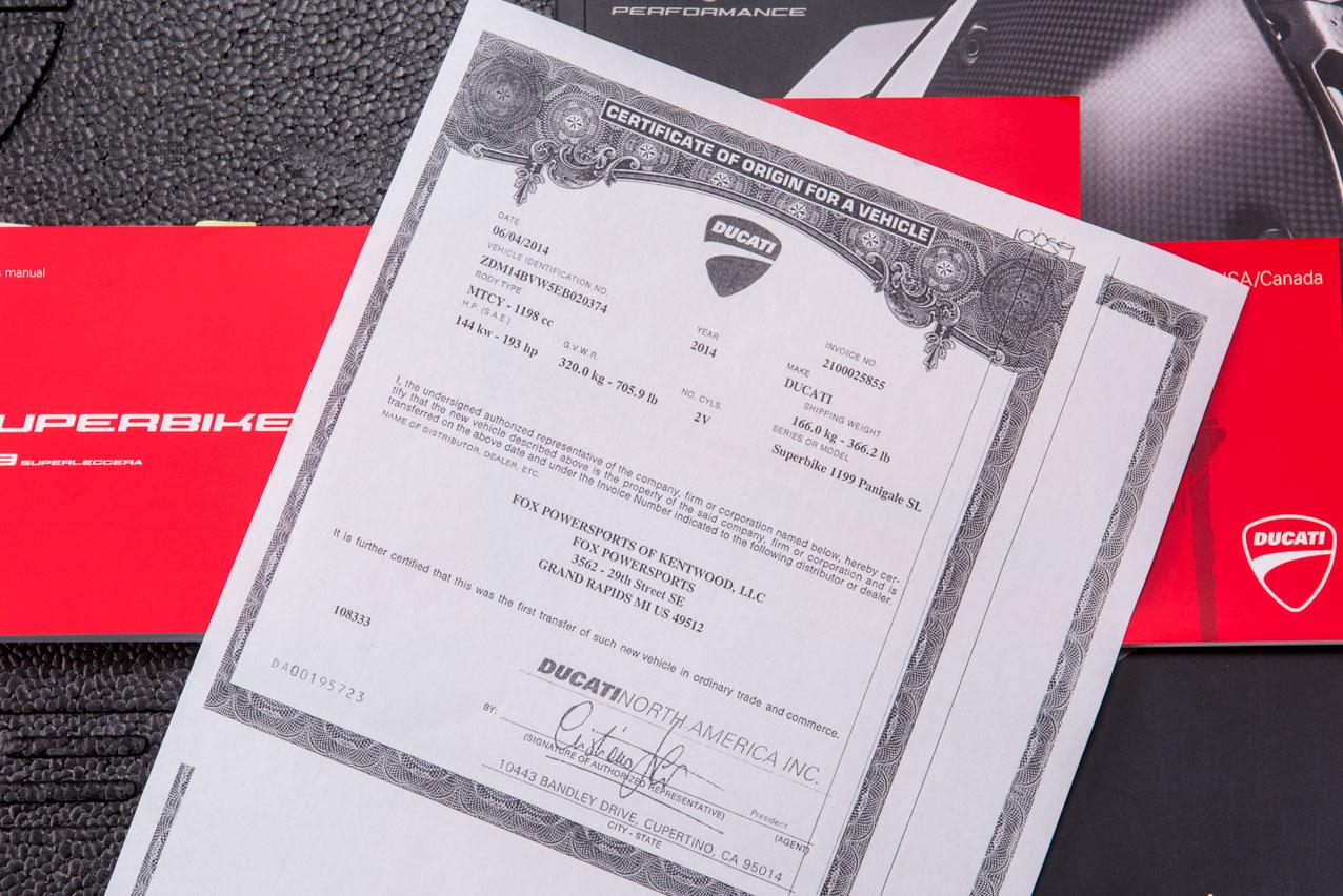 Ducati dating certificate
